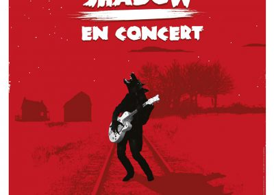 Logo et affiche Screamin' Jack shadow - St Michel