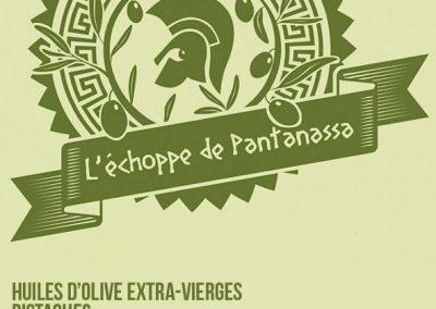 Logo et étiquette pour l'échoppe de Pantanassa