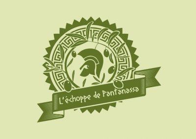 Logo de l'échoppe de Pantanassa (produits grecs)
