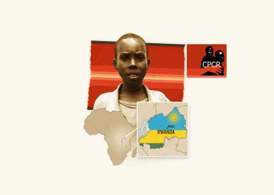 Logo et identité visuelle du Collectif des parties civiles pour le Rwanda